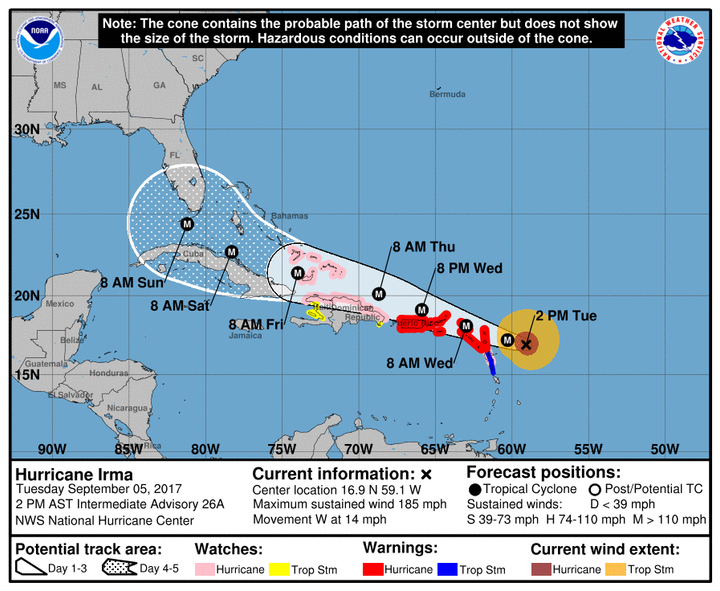 Irma Already Re-Writing Weekend Plans (UPDATED)