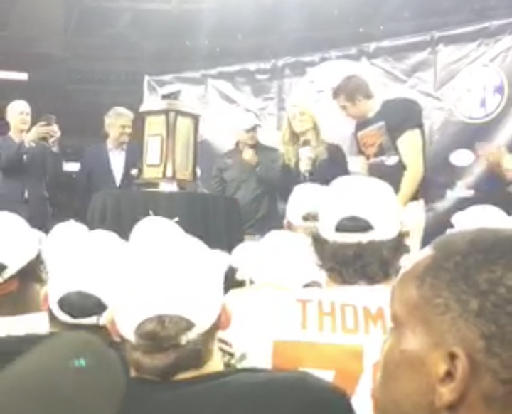 Yes Really Texas Longhorns Punter Michael Dickson was the Texas Bowl MVP