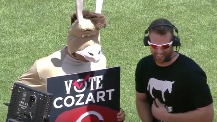 Joey Votto put on a Donkey Suit to Support Teammate Zack Cozart