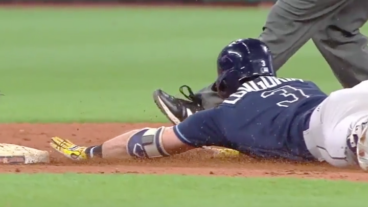 Evan Longoria Hits for Cycle After Replay Review Overturned Call