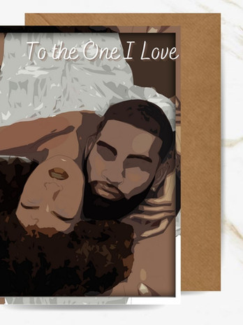 Holding You Close Greeting Card - Cards for Couples by Noir Cards
