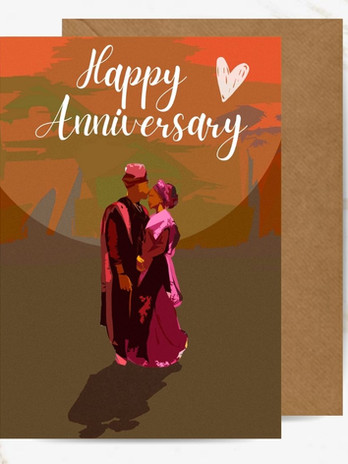 Sunset Love Greeting Card - Cards for Couples by Noir Cards
