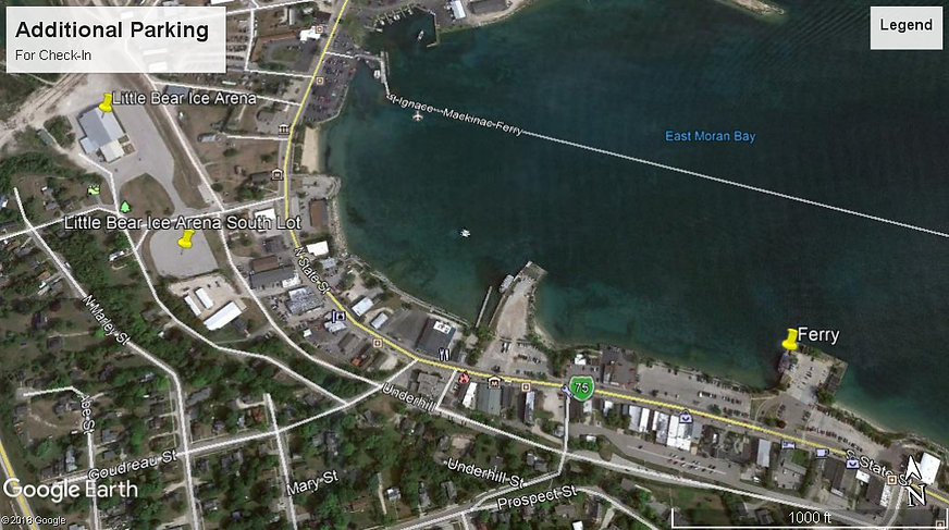 Additonal parking for Mighty Mac Swim check-in