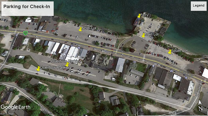 Parking for Mighty Mac Swim check-in