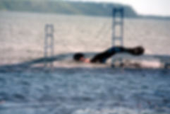 Mighty Mac Swim double-exposure