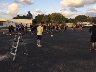 Youth rally dodgeball...