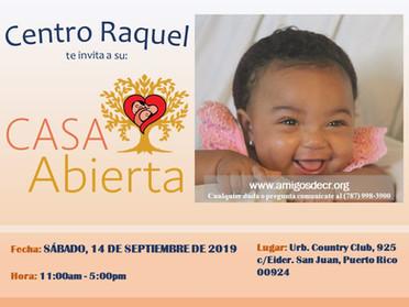 Centro Raquel te invita: Casa Abierta