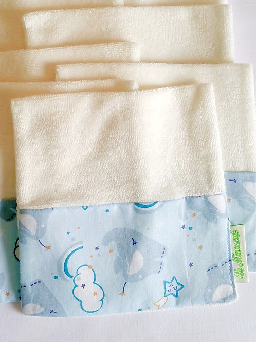 Pack lingettes bleu nuage (x8)