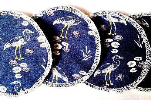 Coussinet d'allaitement les oies bleues (x4)
