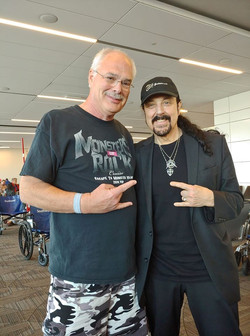 Rick Kassner and Jimi Bell at Miami Airp