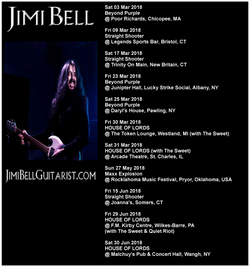 02 JB gigs from March to June 2018