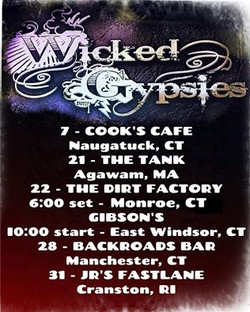 11 Wicked Gypsies gigs poster