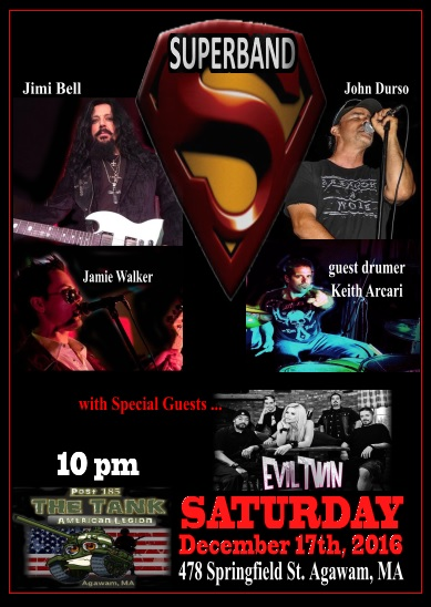 12 Sat17Dec16 Superband poster The Tank