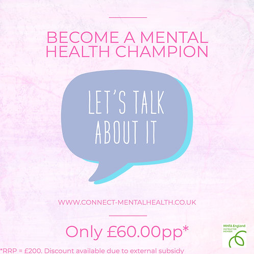 1-Day ADULT Mental Health Champion Course