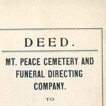 The Hidden History of Mount Peace Cemetery