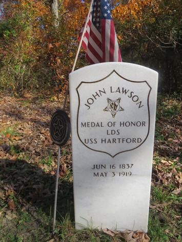 Grave of John H. Lawson dedicated in 2004