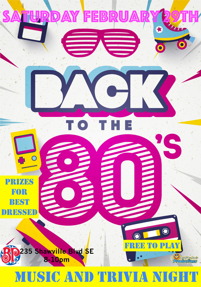 You're invited to 80s Night!