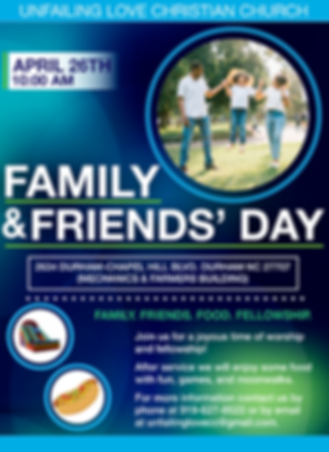 ULCC - 2020 Family & Friends Day Flyer .