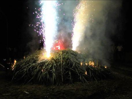 Land art de foc
