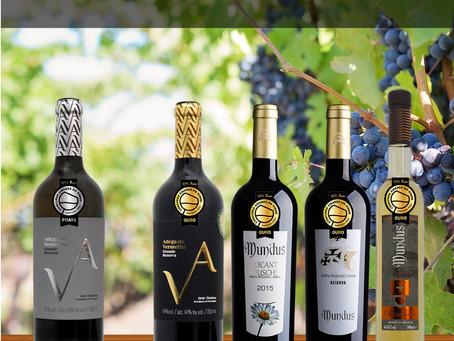 Vinhos Adega da Vermelha e Mundus premiados pelo concurso Cidades do Vinho 2021