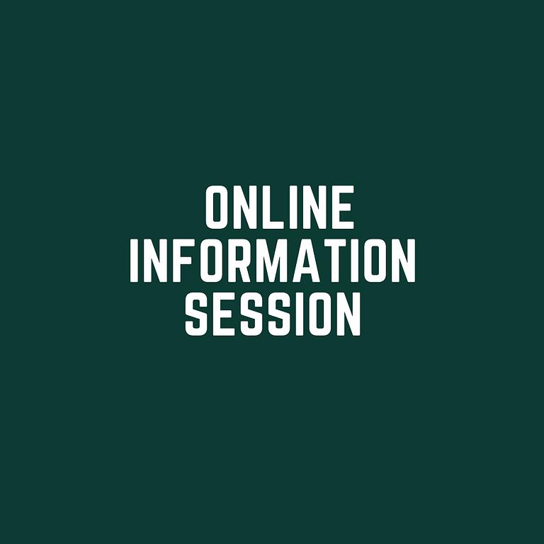 Online Information Session Nov 8th