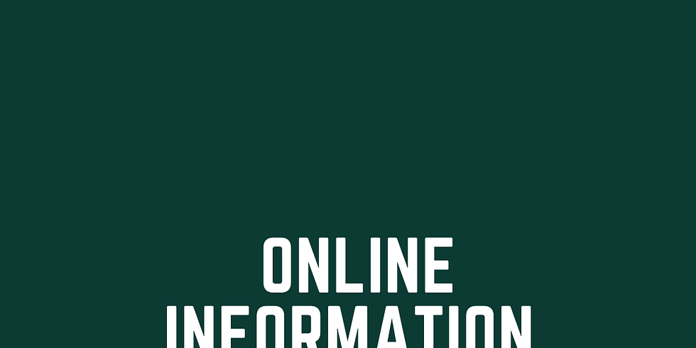 Online Information Session Oct 11th