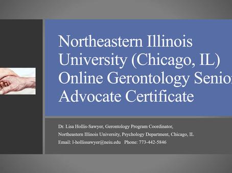 Gerontology Senior Advocate Certificate Program Webinar