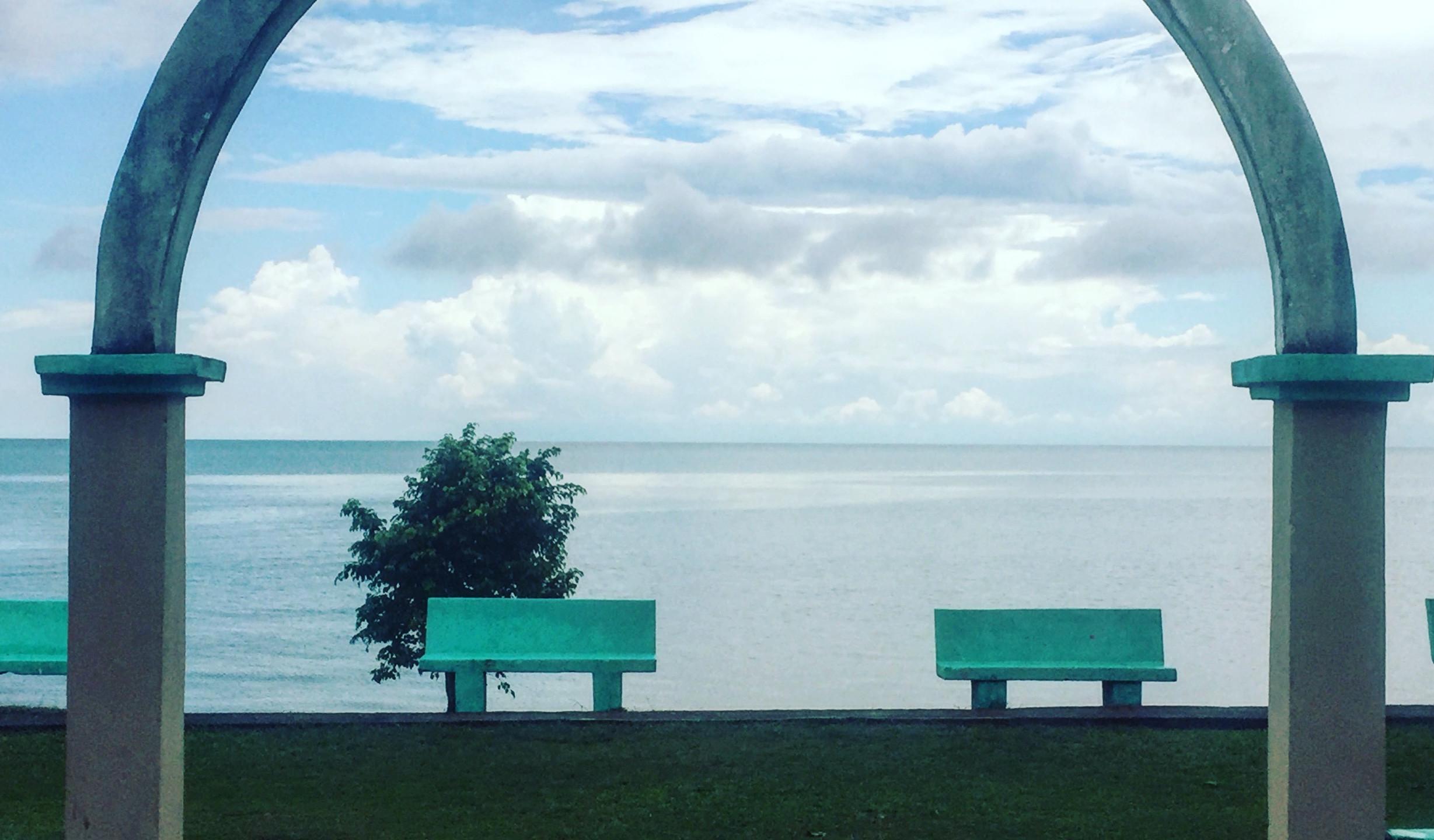Seaside park in Punta Gorda Belize