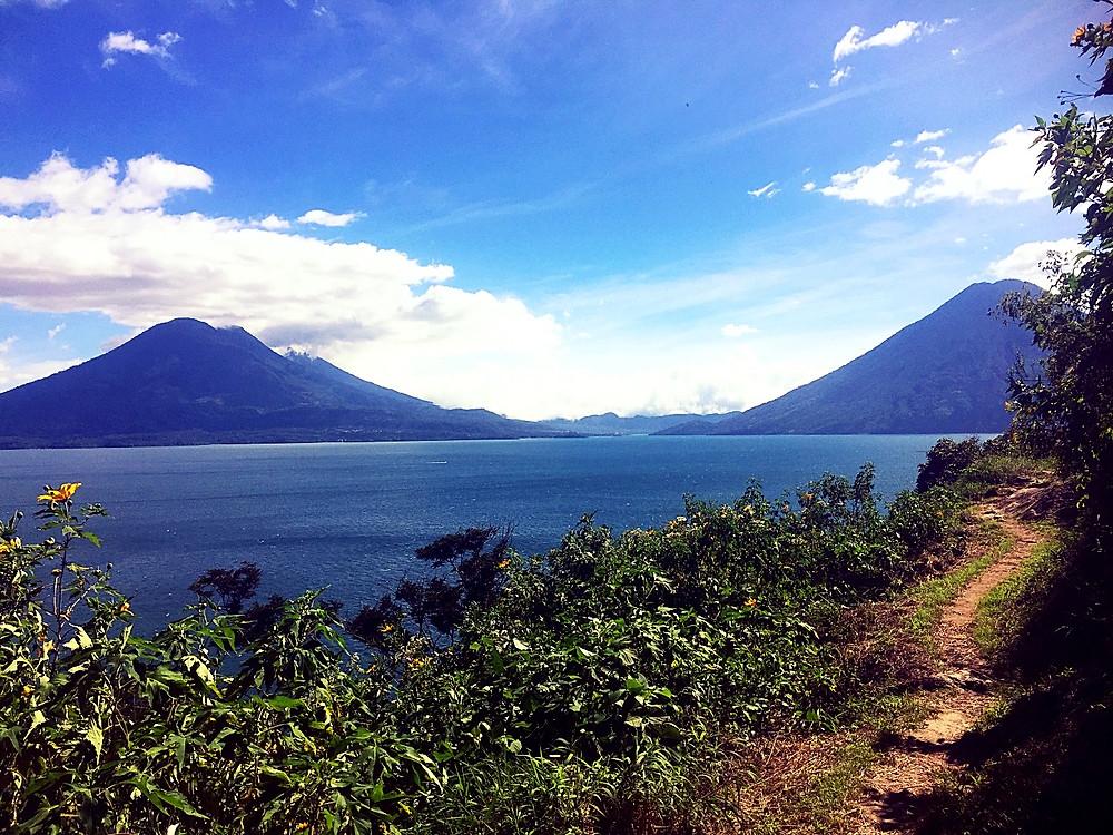 Hiking path, Lake Atitlan, Guatemala