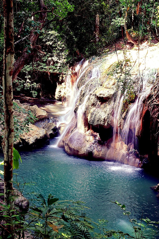 Hot and cold springs, Finca Paraiso, Guatemala