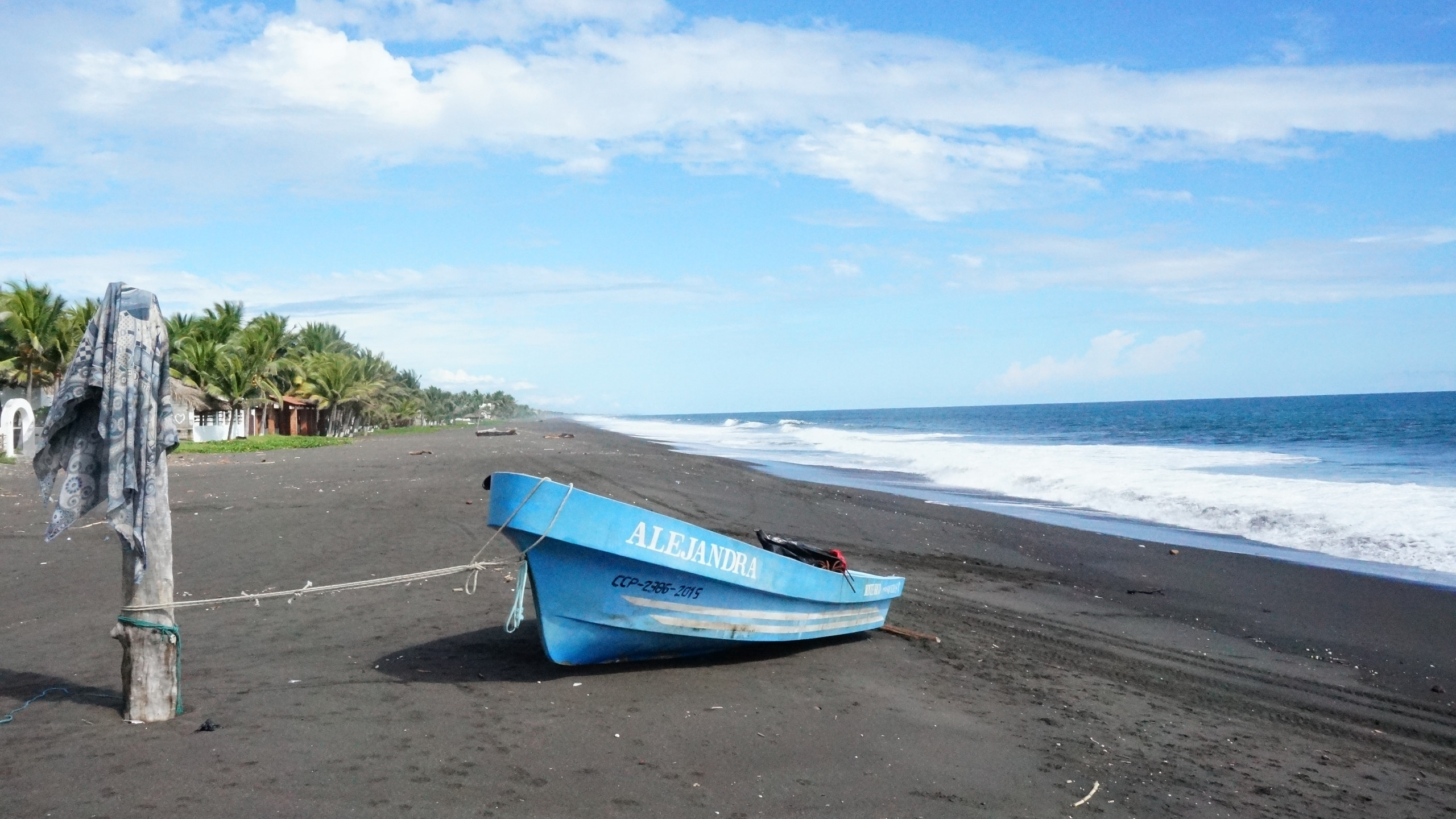 Black sands of Monterrico