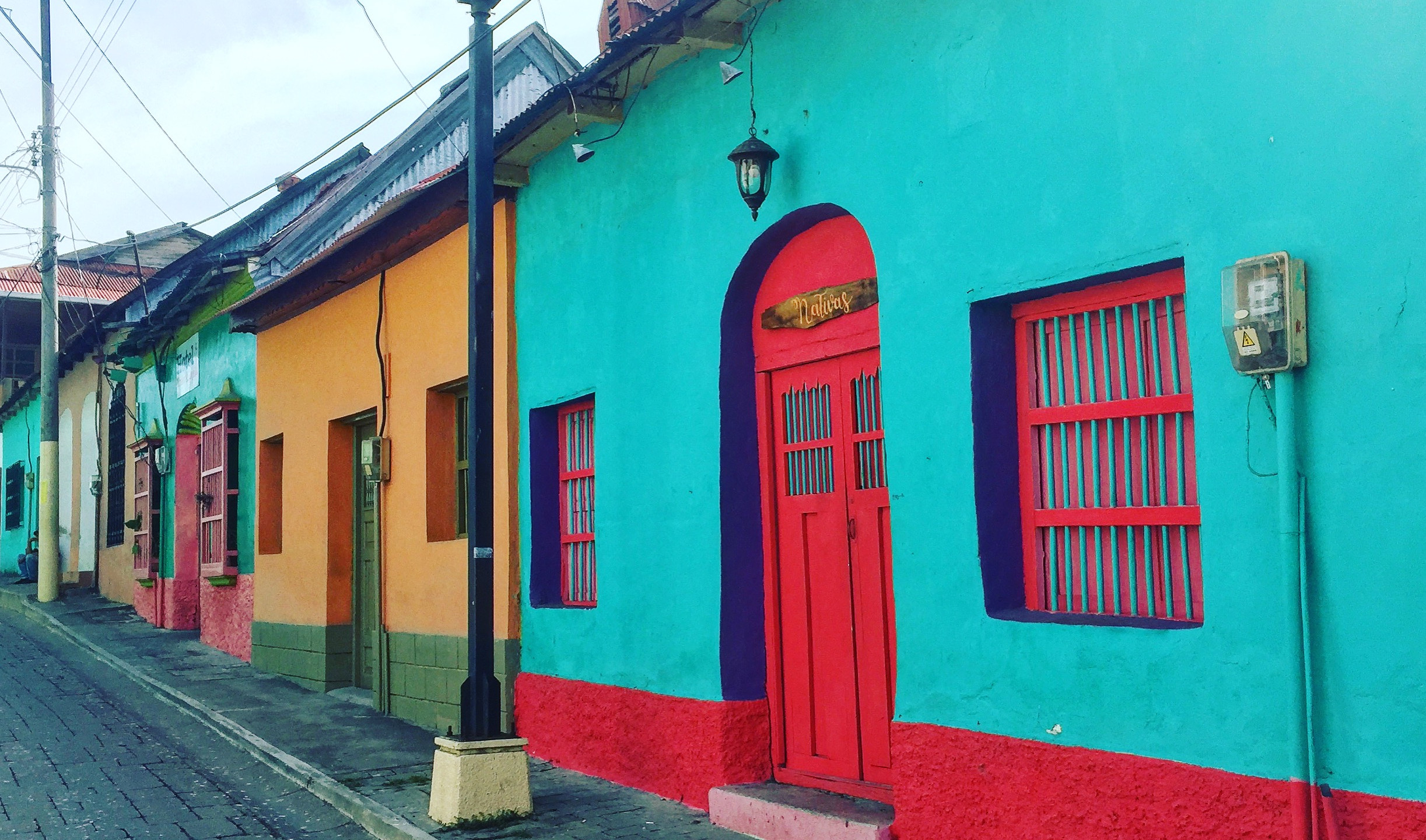 Colonial homes in Flores