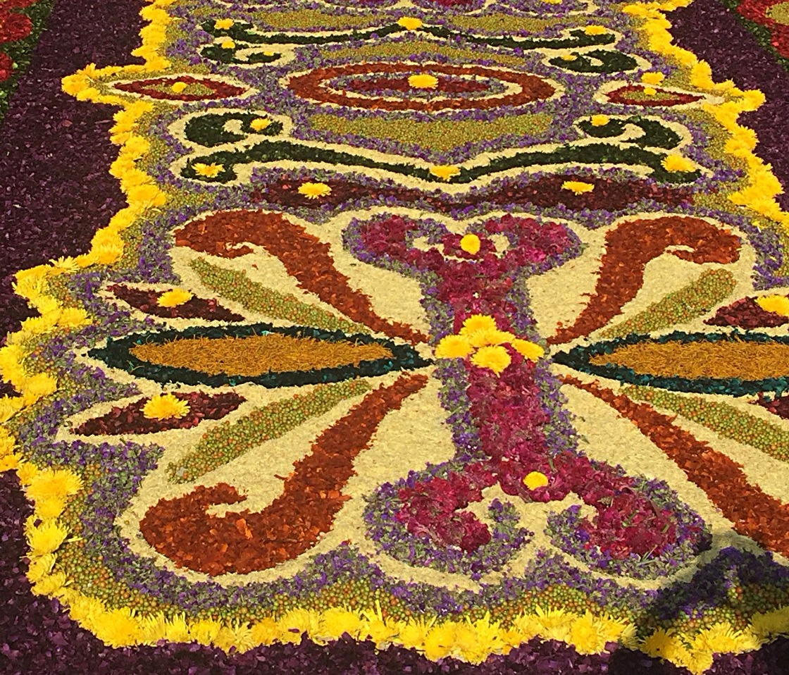 Close up of an alfombra
