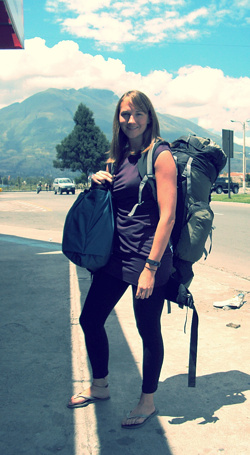 """""""The Girl with the Ginormous Backpack"""" in Ecuador 2010"""