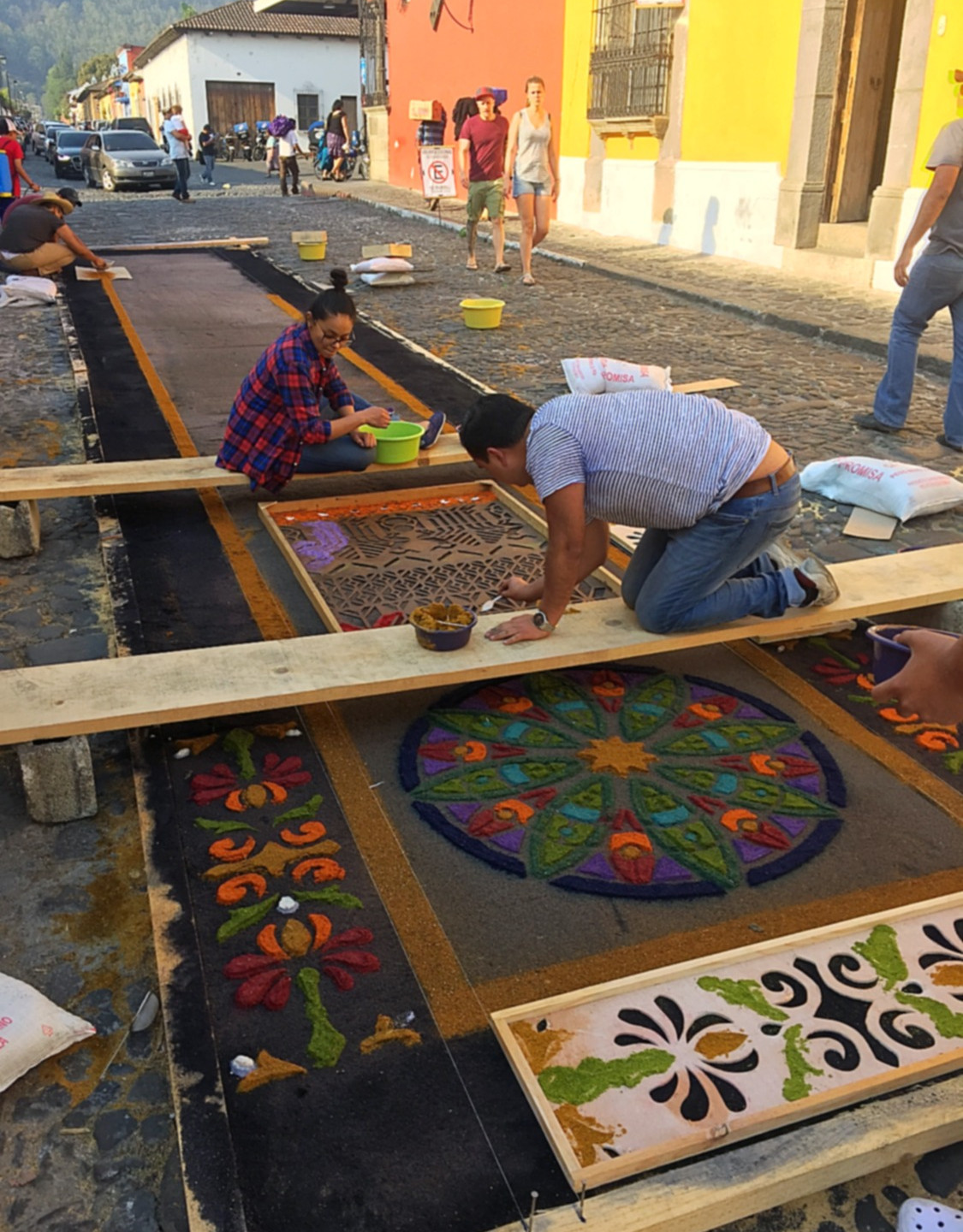 Creating the alfombras