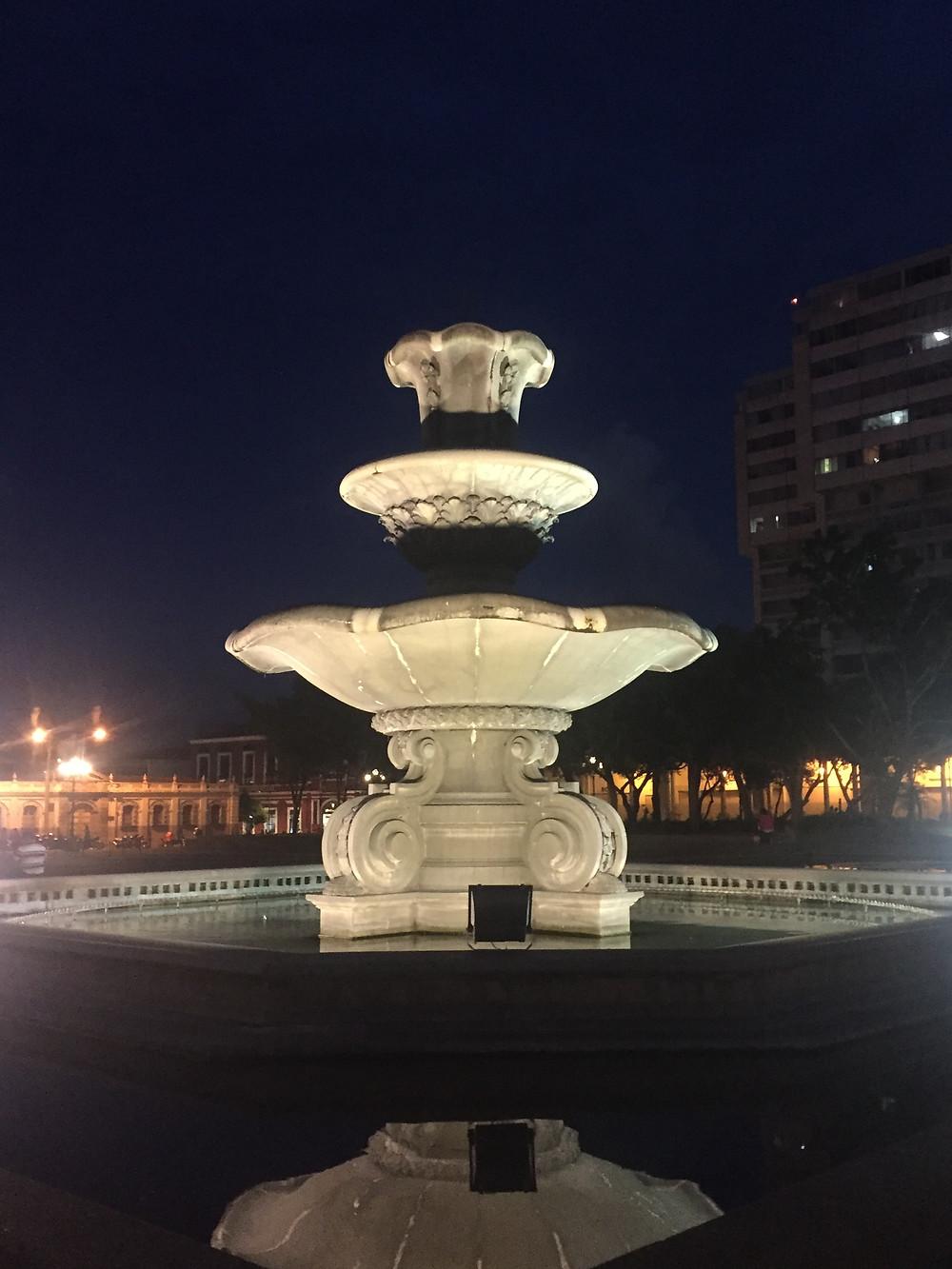 Fountain in Parque Central, Zone 1, Guatemala City
