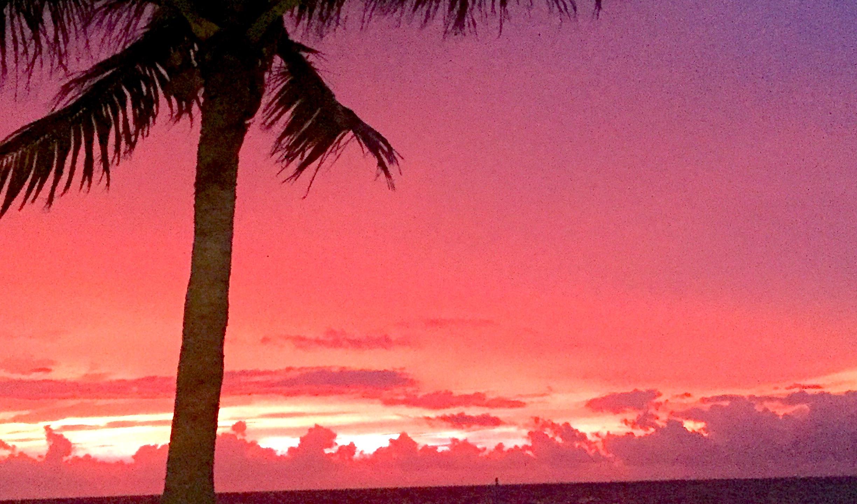 Sunrise in Caye Caulker
