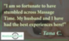 Massage Time Spa Puyallup WA Customer Review