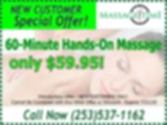 New Customers Massage Coupon Puyallup WA