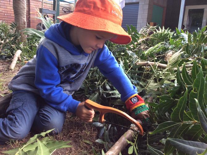 At work in the garden