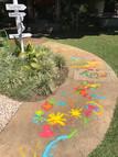 Bike path art