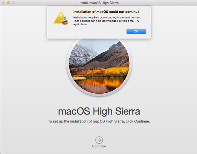 Don't bother trying to download High Sierra this morning they seem to have a problem!