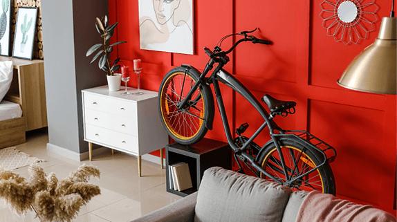 electric bike stored in flat