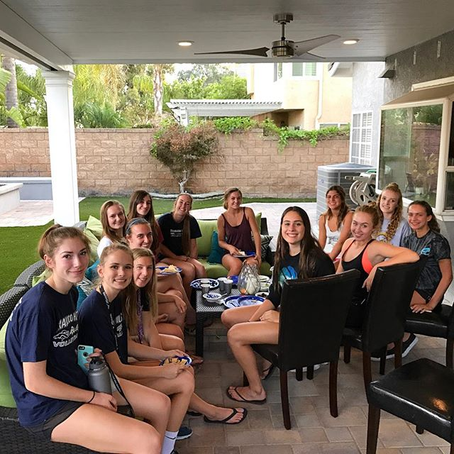 Team dinner at the start of a busy week for Varsity... Games Tuesday _ San Clemente, Wednesday _ hom