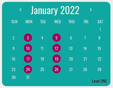ESOL Calendar Level ONE.png