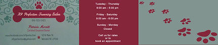 Business hours for K9 Perfection Grooming Salon in Wendell, NC