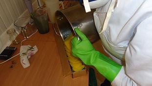 Moulage de pâte à savon bio