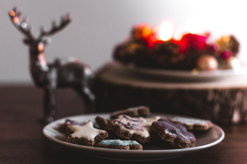 Christmas cookies on a table