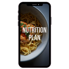 Strong from home nutrition plan on an iphone
