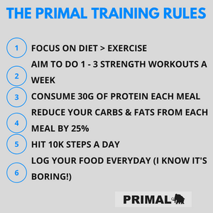 The Primal training rules